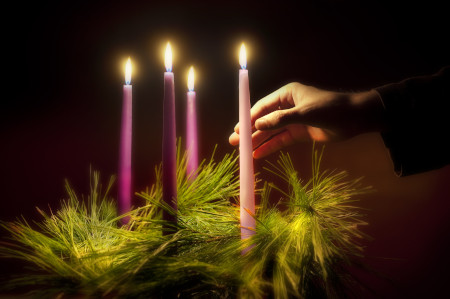 Advent, a season of joyful expectation before Christmas, begins Nov. 29 this year. The Advent wreath, with a candle marking each week of the season, is a traditional symbol of the liturgical period.